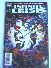Infinite Crisis #4 Dynamic Forces DF Signed George Perez COA Ltd 151